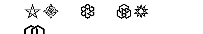 Interlaced Ornaments Font UPPERCASE
