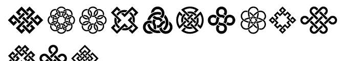 Interlaced Ornaments Font LOWERCASE