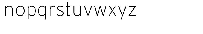 Interstate Extra Light Font LOWERCASE