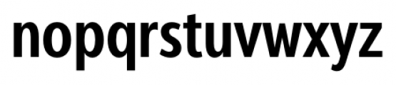 Interval Next Condensed Semi Bold Font LOWERCASE