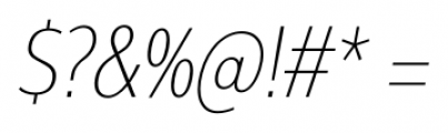 Interval Next Condensed Ultra Light Italic Font OTHER CHARS