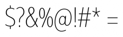 Interval Next Condensed Ultra Light Font OTHER CHARS
