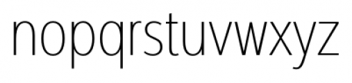 Interval Next Condensed Ultra Light Font LOWERCASE