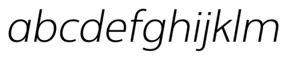 Interval Next Light Italic Font LOWERCASE
