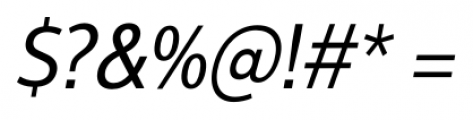 Interval Next Narrow Book Italic Font OTHER CHARS