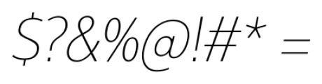 Interval Next Narrow Ultra Light Italic Font OTHER CHARS