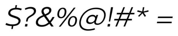 Interval Next Wide Book Italic Font OTHER CHARS