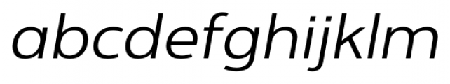 Interval Next Wide Book Italic Font LOWERCASE