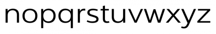 Interval Next Wide Book Font LOWERCASE