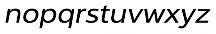 Interval Next Wide Italic Font LOWERCASE