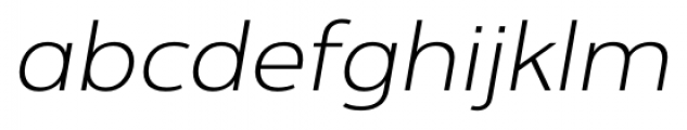 Interval Next Wide Light Italic Font LOWERCASE