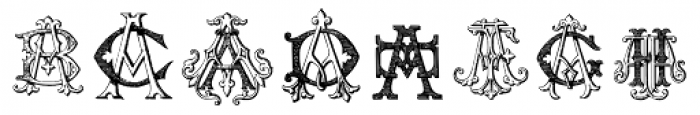 Intellecta Monograms AA-AS Font OTHER CHARS