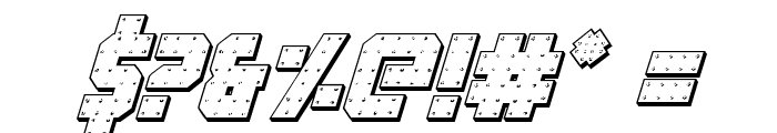 Iron Forge 3D Italic Font OTHER CHARS