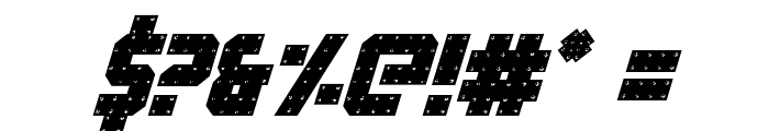 Iron Forge Italic Font OTHER CHARS