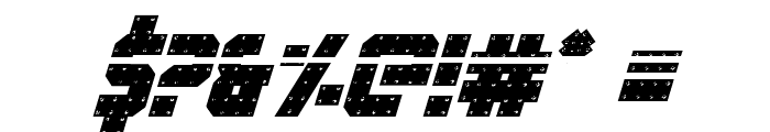 Iron Forge Laser Italic Font OTHER CHARS