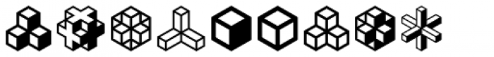 Isometric Ornaments Font OTHER CHARS