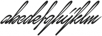 January Script Regular otf (400) Font LOWERCASE
