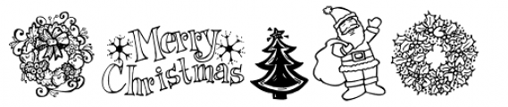 Janda Christmas Doodles Font OTHER CHARS