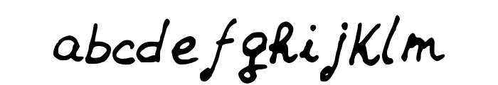 JDHands Font LOWERCASE