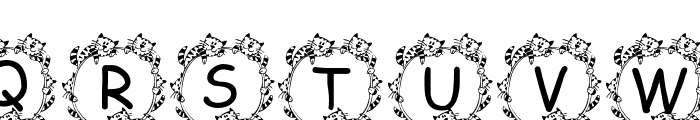 Jenna s Kitties Font UPPERCASE