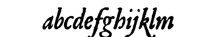 JSL Ancient Italic Font LOWERCASE