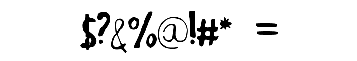 JuliaGBooth Font OTHER CHARS