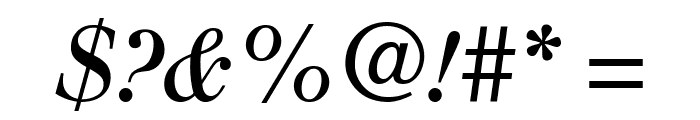 Justus Italic Oldstyle Font OTHER CHARS