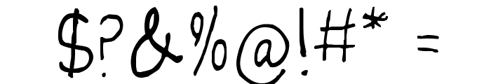 juleswriting Font OTHER CHARS