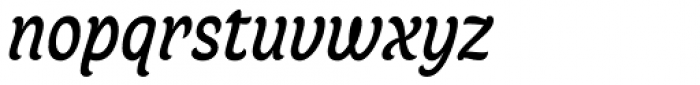 Juno Semicondensed Italic Font LOWERCASE