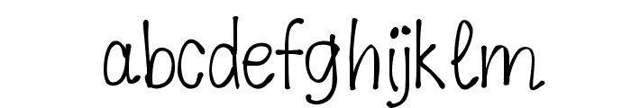K26DewdropDaisies Font LOWERCASE
