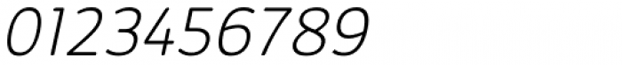 Kabrio Alternate ExtraLight Italic Font OTHER CHARS