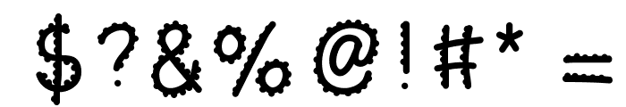KBTurningGears Font OTHER CHARS
