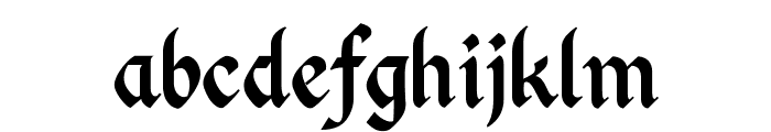 Kingthings Calligraphica 2 Font LOWERCASE