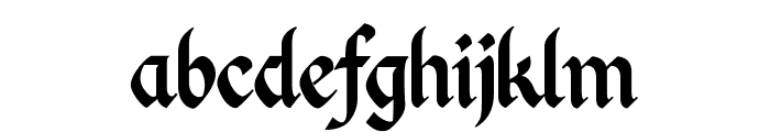 Kingthings Calligraphica Font LOWERCASE