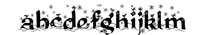 Kingthings Christmas Font LOWERCASE