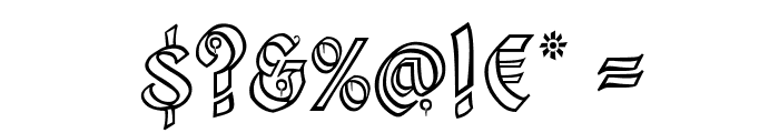 Kingthings Xander Outline Font OTHER CHARS