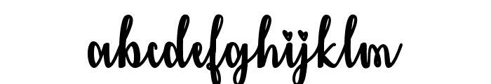 Kiss Me or Not Font LOWERCASE