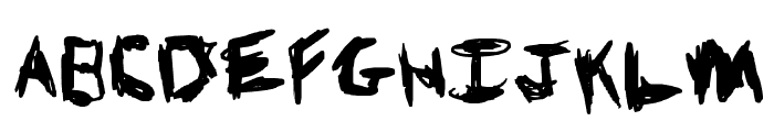 Knives and Pens Font LOWERCASE