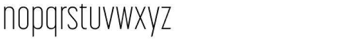 Korolev Compressed ExtraLight Font LOWERCASE
