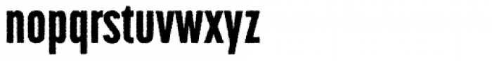 Korolev Rough Compressed Heavy Font LOWERCASE