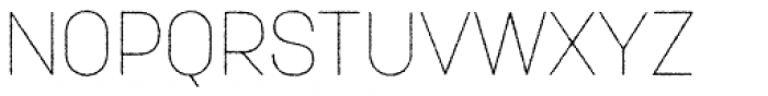 Korolev Rough Thin Font UPPERCASE