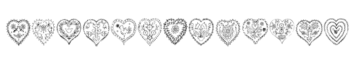 KR All Heart Font UPPERCASE