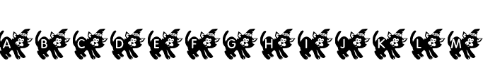 KR Halloween Kitten Font LOWERCASE