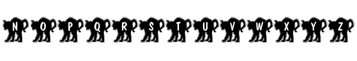 KR Hissy Fit Font UPPERCASE