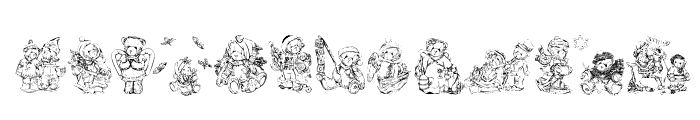 KR Holiday Teddies Two Font UPPERCASE