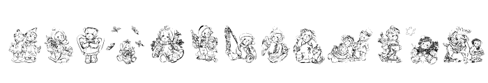 KR Holiday Teddies Two Font LOWERCASE