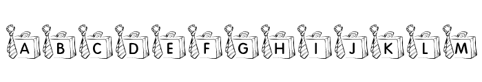 KR Off To Work! Font LOWERCASE