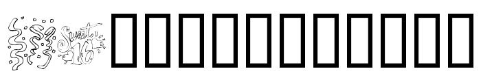 KR Party Time Dings Font LOWERCASE