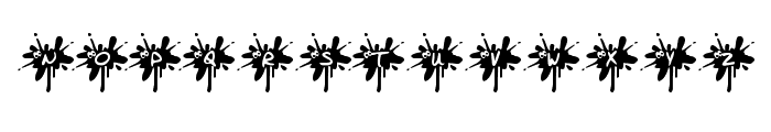 KR Squished Mosquito Font UPPERCASE