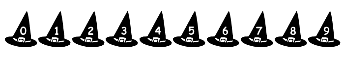 KR Witch's Hat Font OTHER CHARS